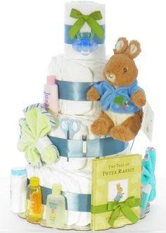 ideas baby shower ideas peter rabbit diaper cakes for 2019 Baby Shower Drinks, Boy Baby Shower Themes, Baby Shower Cupcakes, Baby Shower Signs, Baby Shower Cards, Baby Shower Parties, Baby Shower Invitations, Baby Showers, Baby Shower Purple