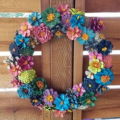 Your place to buy and sell all things handmade Pine Cone Art, Pine Cone Crafts, Wreath Crafts, Diy Wreath, Pine Cones, Wire Wreath Forms, Pine Cone Decorations, General Crafts, Something Beautiful