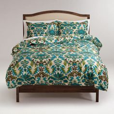 Love these colors for the master bedroom....One of my favorite discoveries at WorldMarket.com: Scottish Mist Duvet and Pillow Shams Set