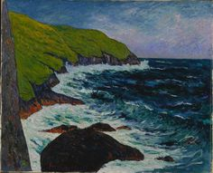 Photograph-The Cliffs at Beg-ar-Fry, Saint-Jean-du-Doigt, Creator: Maxime Maufra (French, Photo Print expertly made in the USA Mary Cassatt, Paul Gauguin, Fine Art Prints, Framed Prints, Canvas Prints, Thomas Gainsborough, Maurice Denis, Cleveland Museum Of Art, Extra Large Wall Art