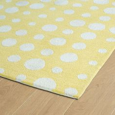 Kaleen Lily And Liam x Yellow , Ivory Area Rug Polka Dot Rug, Kaleen Rugs, Playroom Rug, Rug Texture, Polyester Rugs, Yellow Rug, Rectangular Rugs, Hand Tufted Rugs, Grey Rugs