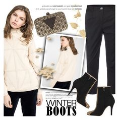 """""""So Cozy: Winter Boots"""" by kreateurs ❤ liked on Polyvore featuring Deby Debo, Devastee, contestentry, winterboots and kreateurs"""