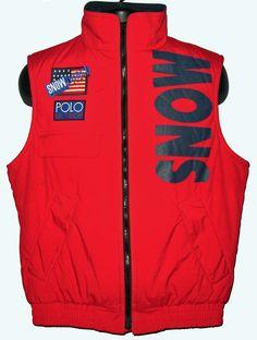 3f1d7af3d5c Vintage Snow Beach vest Polo Ralph Lauren 1992 Cold Wave jacket NOS