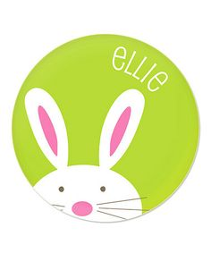 Love this Green Bunny Personalized 8'' Plate by sarah + abraham on #zulily! #zulilyfinds