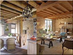 Rusztikus nappali, lakásberendezési ötletek Sweet Home, Patio, Outdoor Decor, Modern, Diy, Home Decor, Houses, Trendy Tree, Decoration Home