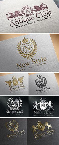 Heraldic Crest Logos Template #design Download: http://graphicriver.net/item/heraldic-crest-logos-vol-3/12178143?ref=ksioks