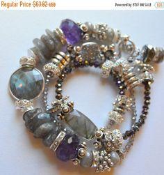 ON SALE chunky bracelet sterling silver bracelet by soulfuledges
