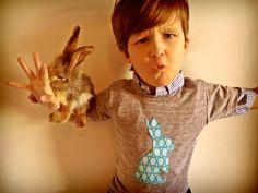 Easter Bunny Applique Shirt Long Sleeve T Shirt by charlieandsarah
