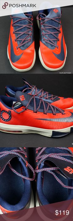 nike kd 6 kevin durant crimson red washington 11 5