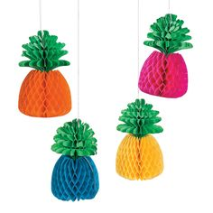 Grab these pineapple paper lanterns for a great party decoration for your Luau! Whether its for an office party, a family reunion or a backyard BBQ, a luau . Pineapple Centerpiece, Luau Decorations, Pineapple Decorations, Wedding Decorations, Luau Party Supplies, Hanging Paper Lanterns, Fantasy Party, Fun Express, Flamingo Party