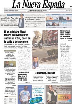 Los Titulares y Portadas de Noticias Destacadas Españolas del 31 de Marzo de 2013 del Diario La Nueva España ¿Que le parecio esta Portada de este Diario Español?