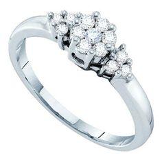 1/4CT-Diamond FLOWER RING