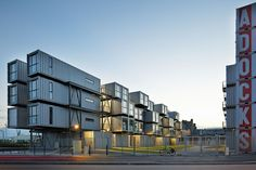 College dorms built from repurposed shipping containers - Le Havre, France