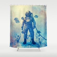 """Deep Sea Garden"" Shower Curtain by Terry Fan on Society6."