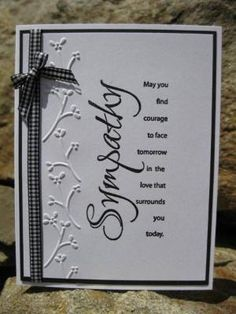 Sympathy card by catcrazy - Cards and Paper Crafts at Splitcoaststampers by denise.su