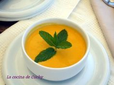 Crema fría de zanahoria y jengibre