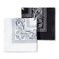 927bbbc4e2af Men's Bandanas - Goodfellow & Co™ White/Black One Size : Target Paisley