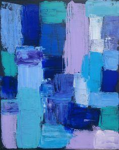 Bleu (châssis entoilé coton 41x33 Acrylique)