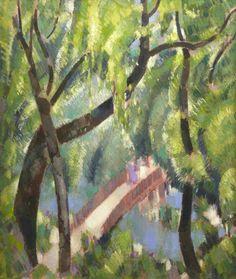 John Duncan Fergusson (British, 1874-1961),A Bridge on the Kelvin, 1942. Oil on canvas, 66 x 54.6 cm.