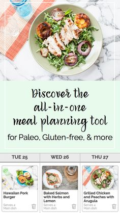 Discover the only meal planning tool that does it all: custom recipe suggestions based on your diet, drag-and-drop menu editing, and a smart shopping list with all the ingredients you need. You'll save time, save money, and eat better. Get your first two weekly plans free!