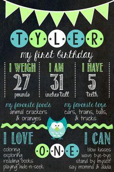 1st Birthday Chalkboard // Birthday Chalkboard от MsThirdGrade