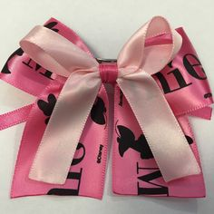 A personal favorite from my Etsy shop https://www.etsy.com/listing/224669531/pink-minnie-mouse-satin-hair-bow
