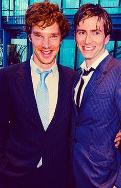 David Tennant and Benedict Cumberbatch together - Doctor Who meets Sherlock British Men, British Actors, British Things, David Tennant, Benedict Cumberbatch, Doctor Who, Tenth Doctor, Baker Street, American Horror Stories