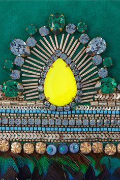 Matthew Williamson Swarovski crystal-embellished suede clutch