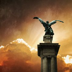 """Angel Statue, Rome"" (2008), By Ilina Simeonova, Flickr ID: lina s, Mixed Media: Photography and Digital Art, New York, United States. Artist's social media page: http://ilinasimeonova.com/"
