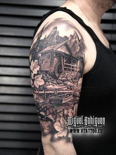 Tatuaje paisaje - Miguel Bohigues - V Tattoo