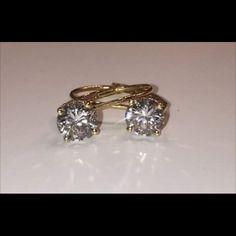 Beautiful diamond earrings 1.25Ct TDW No cloudiness I clarity sold Jewelry Earrings