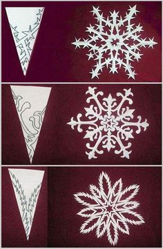 59 Best ideas for craft winter snowflake template Diy Christmas Snowflakes, Snowflake Craft, Paper Snowflakes, Winter Christmas, Christmas Decorations, Christmas Paper, Homemade Decorations, Paper Snowflake Template, Paper Snowflake Patterns