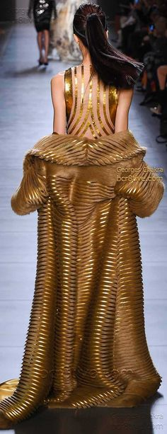Gold Sequin Gown and Cape