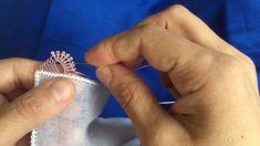İğne Oyası sıralı Yemeni örneği  /needle lace