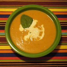 Pumpkin Chipotle Soup   This is a great soup recipe for all your canned pumpkin. I love it!