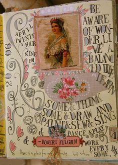 a journal page by pam garrison, via Flickr