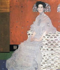Gustav Klimt, Portrait of Fritza Riedler - #art