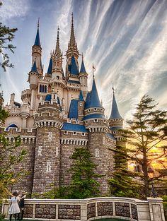 Cinderella's Castle at Sunset