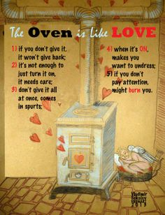 The #Oven is Like #Love - your skype school material