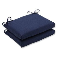 Pillow Perfect Outdoor/Indoor Rave Squared Corners Seat Cushion - Set of 2
