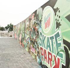 Circuit Skate Park Graffiti Wall @ Makati
