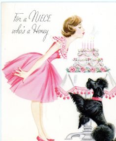 Vintage Norcross Birthday Greeting Card Poodle Girl in Pink Candles on Cake 492 FOR SALE • $4.00 • See Photos! Money Back Guarantee. 4 1/2 x 5 1/4Glitter on the cake NO INTERNATIONAL SALESPAYPAL PLEASEWILL COMBINE SHIPPING 272536028382