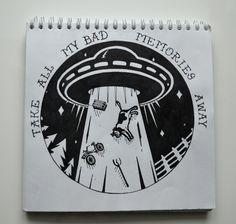Take all my bad memoris away << Vika Storm, Russia #blackwork #art #artwork #blackartist #ufo #picture #draw #tattooideas #sketch #sketchbook #vikastorm #нло #скетч #блэкворк #рисунок #арт