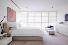 Minimalistisk soveværelse.