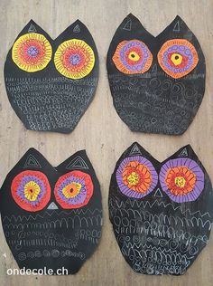 - Hibou et graphismes -: - Hibou et graphismes - - Hibou et graphismes -: - Hibou et graphismes - Freeform embroidery circle brooch Brooch 230 Animal Art Projects, Fall Art Projects, Projects For Kids, Owl Crafts, Baby Crafts, Baby Owls, Owl Babies, Fall Crafts For Toddlers, Feather Crafts