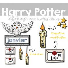 Affichage anniversaires Harry Potter