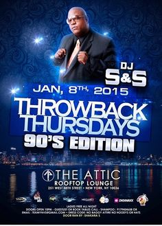 Throwback Thursdays The 90's Edition @ The Attic Thursday January 8, 2015 « Bomb Parties – Club Events and Parties – NYC Nightlife Promotions
