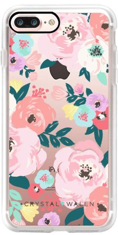 Casetify iPhone 7 Plus Classic Grip Case - Lola-Floral-Clear-Romance by Crystal Walen #Casetify
