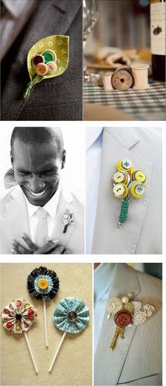 Botões em casamentos