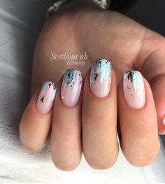 Stylish Nails, Trendy Nails, Nagellack Design, Foil Nails, Nails With Foil, Foil Nail Art, Pretty Nail Art, Gel Nail Designs, Gorgeous Nails